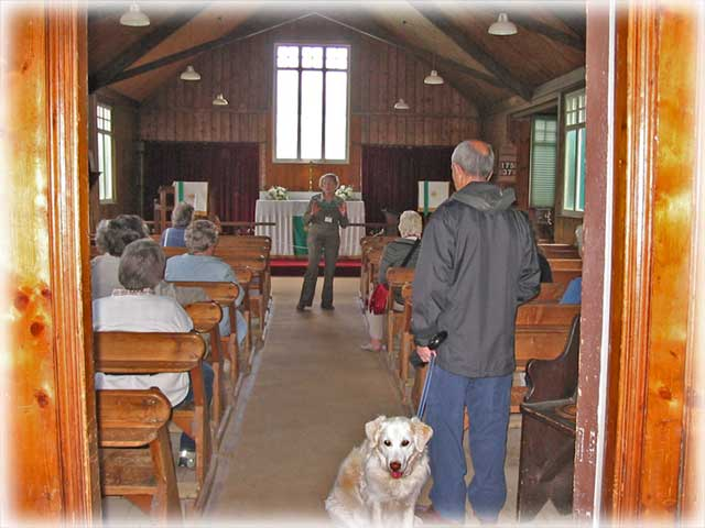 Interior of the Tin Tabernacle at Avoncroft, click for larger image