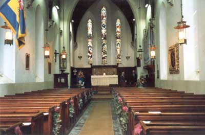 Interior of St Mary Guarlford, in 2004