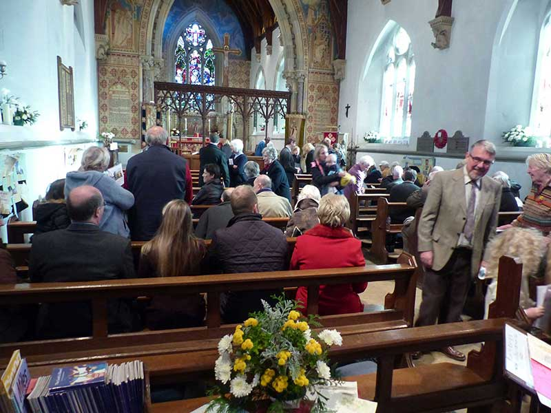Congregation at St Mary Madresfield
