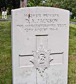 Dennis Alfred Jackson's  Commomwealth war grave