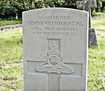 Thomas William Panting's Commonwealth war grave
