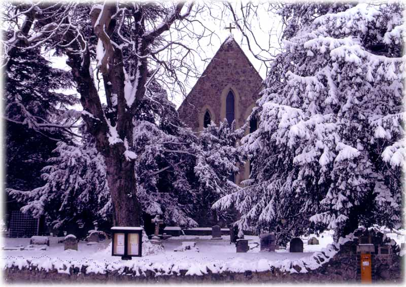 St Mary's in the snow by Keith Owen